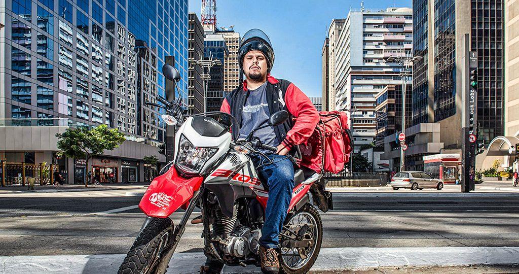 Motoboy Paulo LimaFoto: Germano Lüders21/04/2020